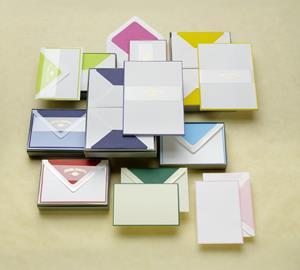 Briefpapier A6 Vergé Bicolor weiß 5er