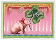 Postkarte Viel viel Glück!