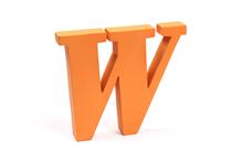 """Holzbuchstabe """"W"""""""
