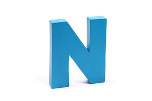 """Holzbuchstabe """"N"""""""