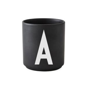 Becher schwarz A-Z Arne J.