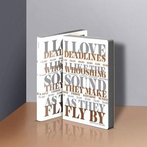 Notizbuch Graphic L I Love Deadlines