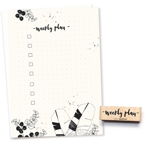Stempe Typo weekly plan