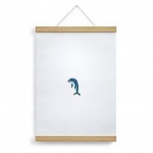 Posterleiste Eiche/ Magnet zum Hängen