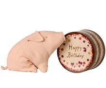 Kuscheltier Schwein in a box birthday