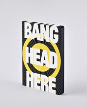 Notizbuch Graphic L Bang Head Here