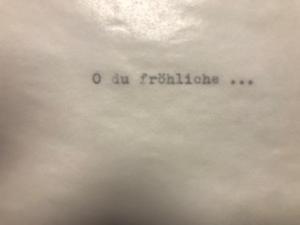 Klappkarte Umschlag getippt X Mas  type