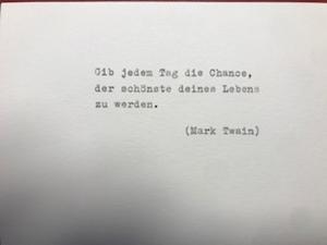 Klappkarte Umschlag getippt Alltag type