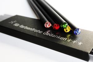 Bleistift für farbenfrohe Gedanken